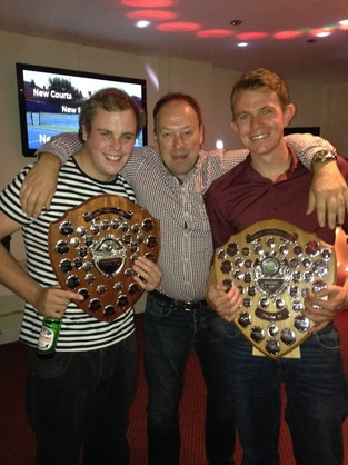 the trophies for winning the wirral tennis league